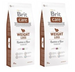 Brit Care New Weight Loss Rabbit & Rice 2x 12 kg - sucha karma dla psów z nadwagą królik ryż 24kg