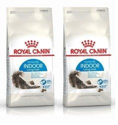 Royal Canin karma dla kotów feline indoor long hair 2x 400 g