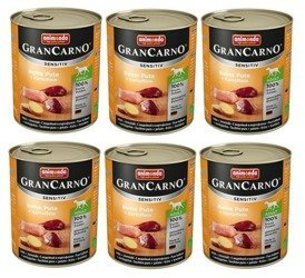 animonda grancarno sensitive indyk i ziemniaki 6 x 800 g