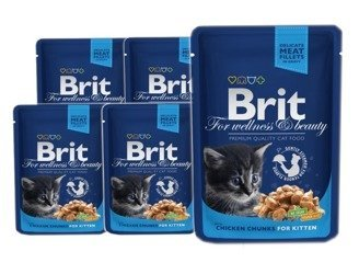 brit kitten chicken & chunks - kurczak 12x100 g