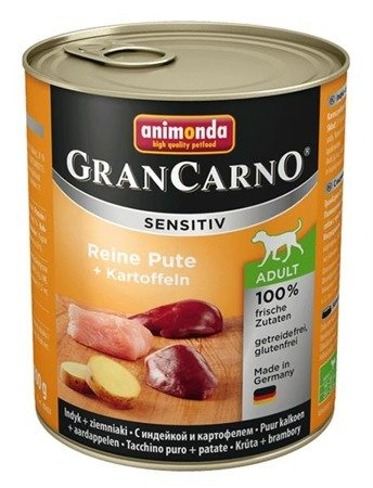 Animonda grancarno sensitive indyk i ziemniaki 800 g
