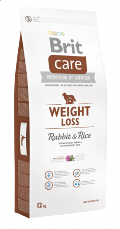 Brit Care New Weight Loss Rabbit & Rice 12 kg - sucha karma dla psów z nadwagą królik ryż 12kg