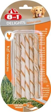 Przysmak 8in1 Delights Twisted Sticks 10 szt.