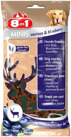 Przysmak 8in1 Minis venison and blueberry 100 g