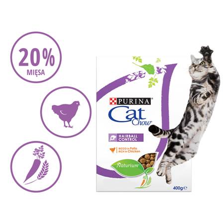 purina cat chow hairball control special care 400 g