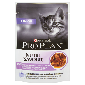 Purina Pro Plan Cat NutriSavour Junior o smaku indyka 85 g