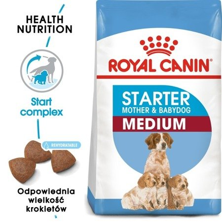 royal canin karma dla psów medium starter mother & babydog 12 kg