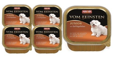 animonda vom feinsten junior wątróbka drobiowa 11x150 g