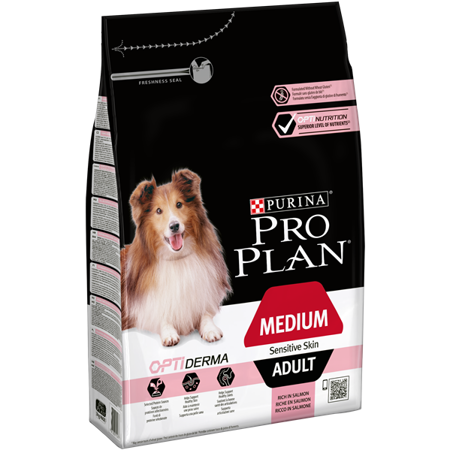 purina pro plan optiderma medium adult sensitive skin 3 kg